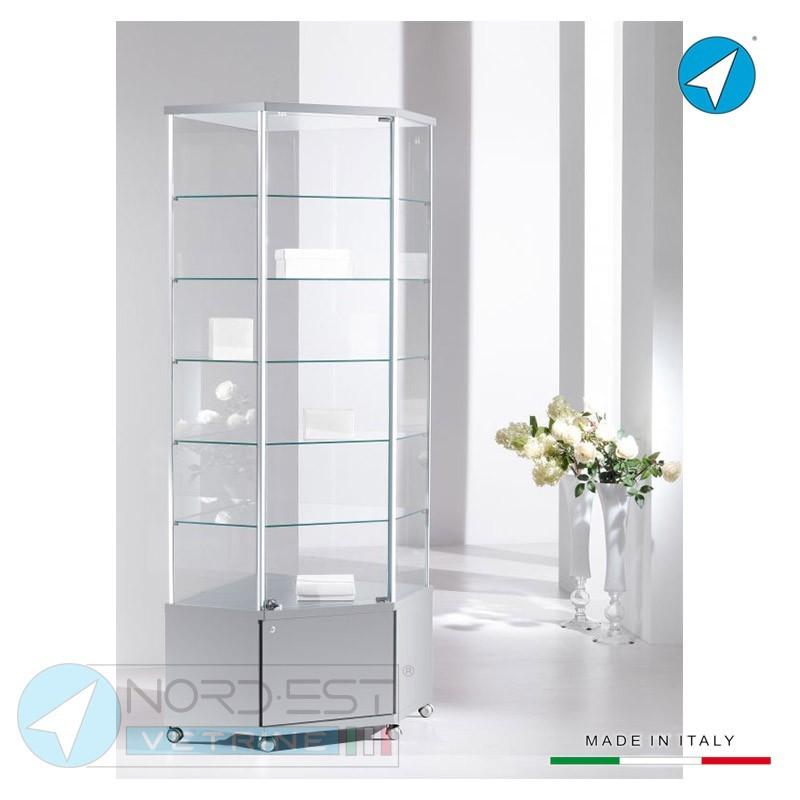 Mobile Ad Angolo Con Vetrina.Serie Design Vetrina Verticale Angolare Con Mobile 1 Anta Con
